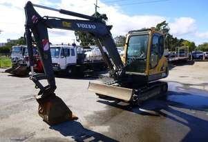 2007 Volvo EC55B 5 Ton Rubber Tracked Excavator with Push Blade & 3 x Buckets IN AUCTION