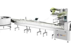 Flow Wrapper - High-Speed Automatic Packing System (Automatic Rotary Infeed)