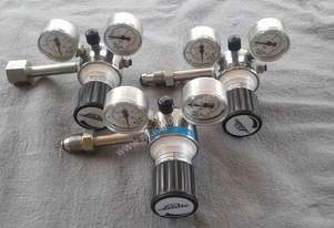 Full set (6 off) CO2 Laser machine gas regulators