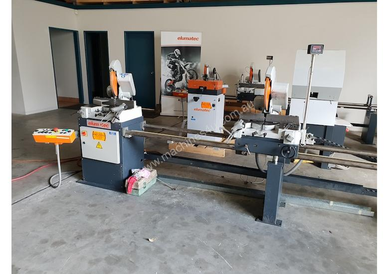 Used Elumatec DG79 Double Mitre Saw, 4.5M
