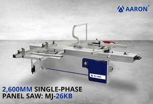 Aaron Heavy-Duty 2600 mm Single Phase Sliding Table Saw | 5HP, 3.75kW Panel Saw | MJ-26KB
