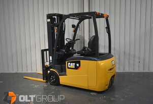 CAT EP18TCB 3 Wheel Electric Forklift 4700mm Container Mast 2018 345 Hours