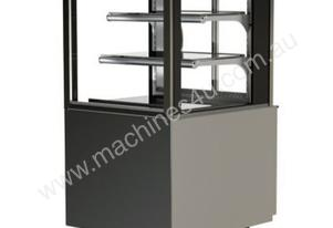 FPG 3C06-SQ-FS-SD-I Refrigerated Square Freestanding Display w/Sliding Glass Door & Integral Condens