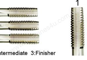 HSS Hand Tap 3pcs Set M8x1.25mm Pitch