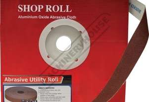 A8100 80 Grit Abrasive Rolls 25mm x 33 metres