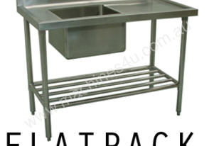Alphaline XS1-70180L Stainless Steel Sink Bench 1800 x 700 Left Bowl