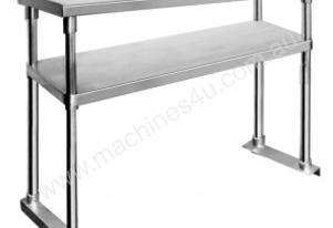 NEW 1500 WIDE STAINLESS STEEL BENCH LAY OVER SHELF