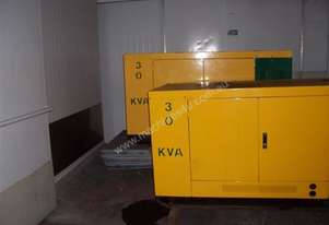 30 KVA old stock , 1500rpm , silenced