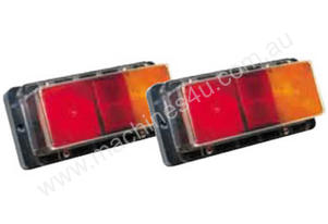 TRAILER LED LIGHT SET RECT WATER PROOF