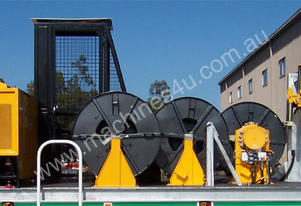10kN 3-Drum Skid-Mounted Recovery Winch