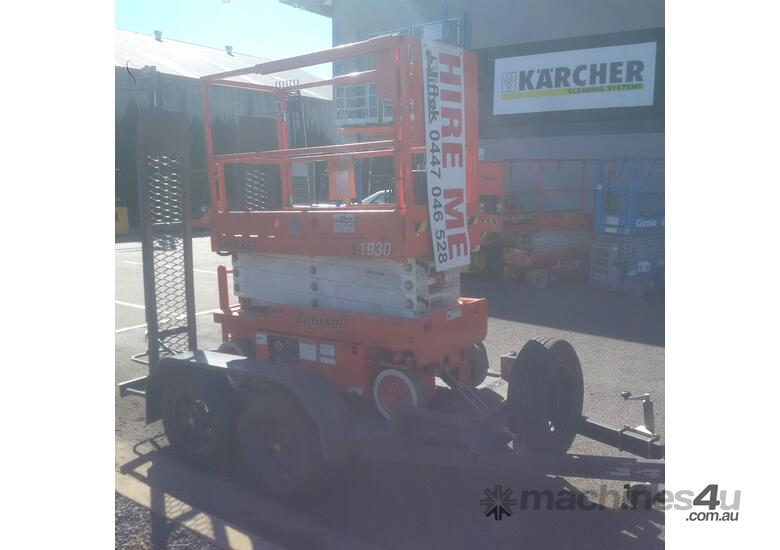 SNORKEL S1930 SCISSOR LIFT AND TRAILER PACKAGE