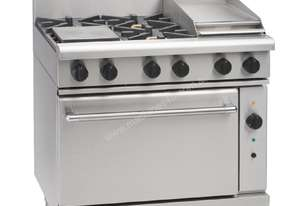 Waldorf by Moffat 4 Burner Natural Gas Convection Range and Griddle RN8613GC