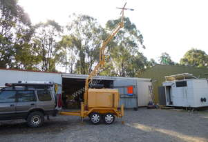Light tower.  Three phase generator,  11 KW, 8 meter hydraulic, Solar, LED, Lithium