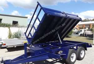 NEW 10×7 HYDRAULIC 3 WAY TABLE TOP TIPPER TRAILER
