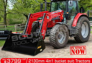 2130 mm 4 in 1 Bucket suit Tractor Front End Loader ATT4IN1