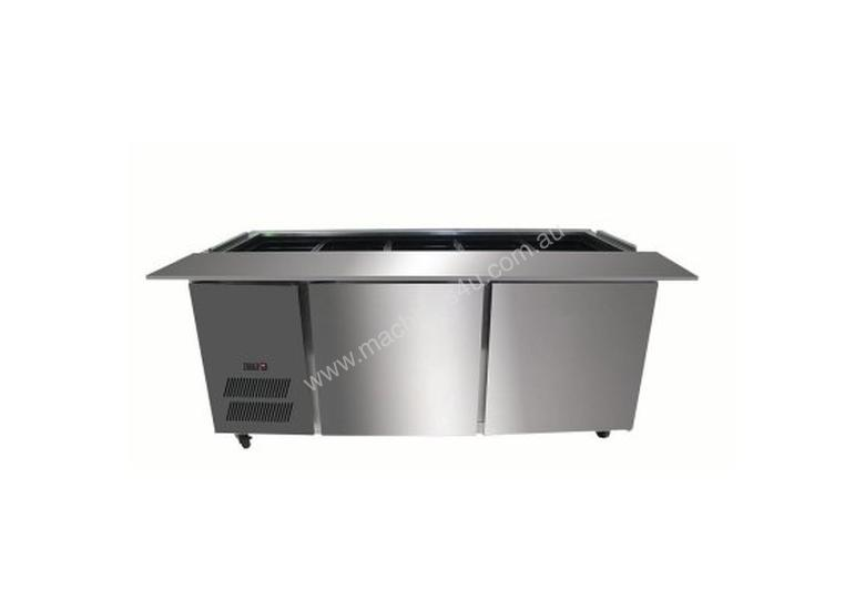 F.E.D. PG210FA-B Bench Station Three Door - 6� 1/1 GN Pans