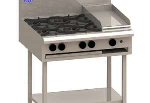 Luus BCH-2B6P 900mm Cooktop with 2 Burners, 600mm Grill & Shelf Essentials Series