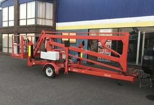 TRAILER BOOM LIFT. SNORKEL. IN TEST.