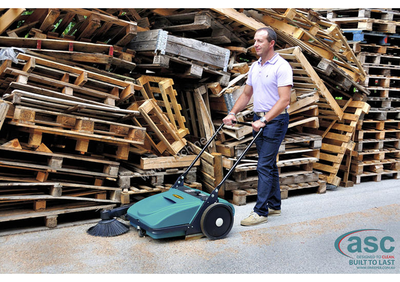 ASC ME Manual Sweeper - 10 times faster than a man with a broom
