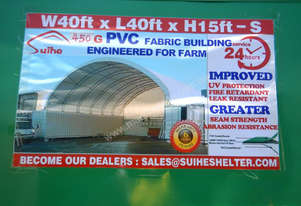 12m x 12m x 4.5m Double Trussed Container Shelter - 6452-5