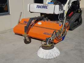 New Tuchel Sweeper Broom Attachment for Skid Steers Forward Moving Bucket Broom - picture0' - Click to enlarge