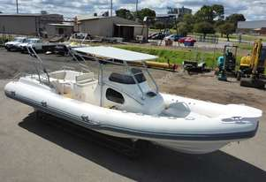 Custom Built Hypalon 8.3m/27ft Luxury Centre Console Boat RHIB - In Auction