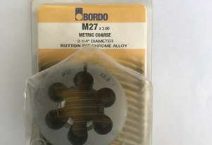 Bordo M27 Button Die Metric Coarse Chrome Alloy