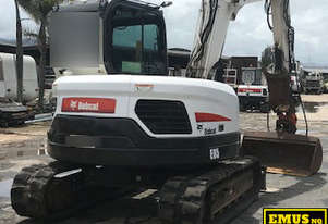 2014 Bobcat E85 8ton Excavator, 3k hrs, lots attachments. EMUS MS469