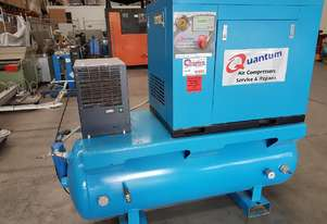 QUANTUM 3-IN-1 SCREW COMPRESSOR 7Kw/KAESER 7.5Kw + PULFORD/INGERSOLL RAND 15Kw. OIL FREE COMPRESSORS