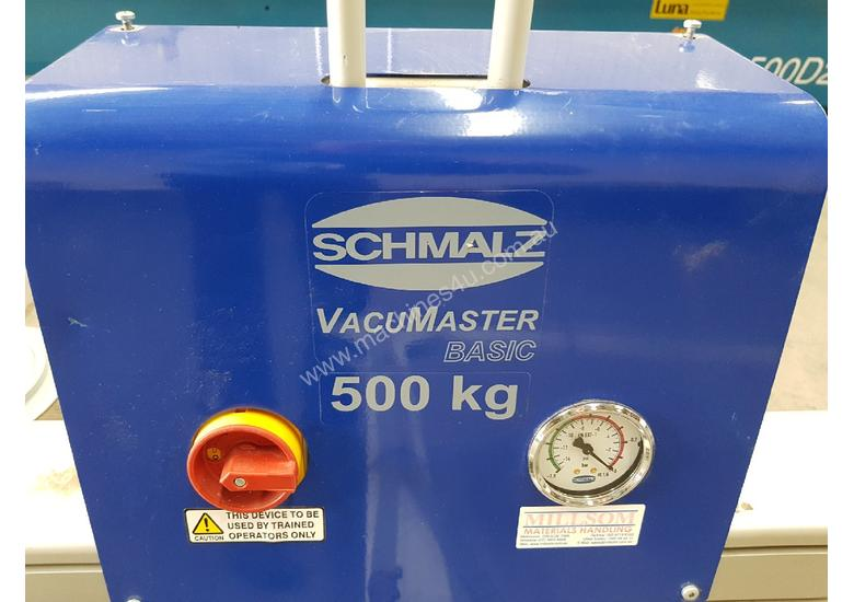 VacuMaster PANEL/SHEET LIFTER SCHMALZ 500KG Including CHAIN HOIST * SOLD 18/7/18 *