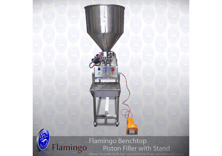 Flamingo Bench-top Piston Filler with Stand
