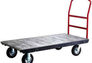 Trust Platform Trolley 132cm x 61cm with 200mm Pneumatic Castors