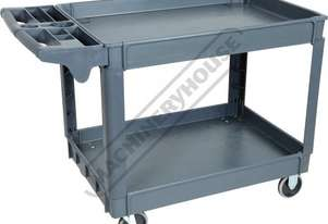 PSC-2W Plastic Service Cart 2 Trays 1170 x 652 x 840mm