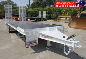 Single Axle Tag Trailer 11 Ton Custom White ATTTAG