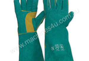 LEATHER WELDING GAUNTLET - WELDERS SAFETY GLOVES