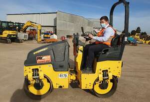 BOMAG BW80AD-5 1.55T TANDEM STEEL DRUM VIBRATING ROLLER WITH 660 HOURS
