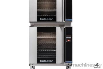 Turbofan E32T4/2C - 2 x E32T4 Electric Convection Ovens Double Stacked with castor base stand