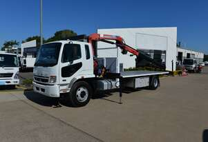 2009 MITSUBISHI FUSO FIGHTER FM600 - Tray Truck - Truck Mounted Crane