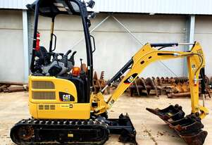 Cat 301.7D 1.7t mini excavator with low 274 hours