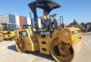CAT CB434D TANDEM SMOOTH DRUM 7T ROLLER