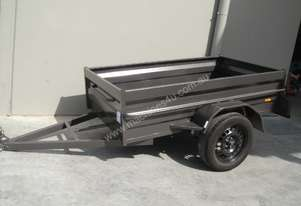 BRAND NEW 8X4 MEDIUM DUTY HIGH SIDE BOX TRAILER