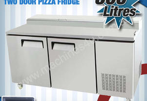 TWO DOOR PIZZA PREP FRIDGE - PPF02-SS