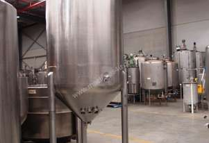 Stainless Steel Mixing Tank - Capacity 1,500 Lt.