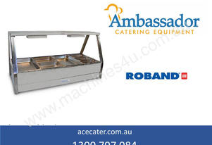 Roband Straight Glass Four Bay Hot Food Display