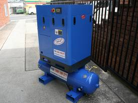 5.5hp / 4kW Tank Mounted Screw Air Compressor - picture1' - Click to enlarge