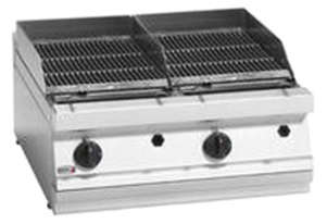 FAGOR Gas 700mm Cast Iron Charcoal Grill BG7-10