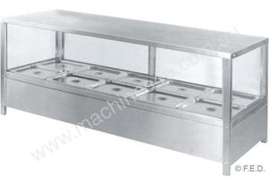 F.E.D. HB14SD Square Countertop Heated Bain Marie