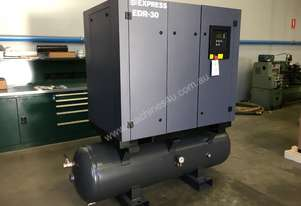 22kW screw compressor on receiver