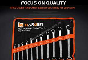Harden Metric 11 piece Ring Spanner Set