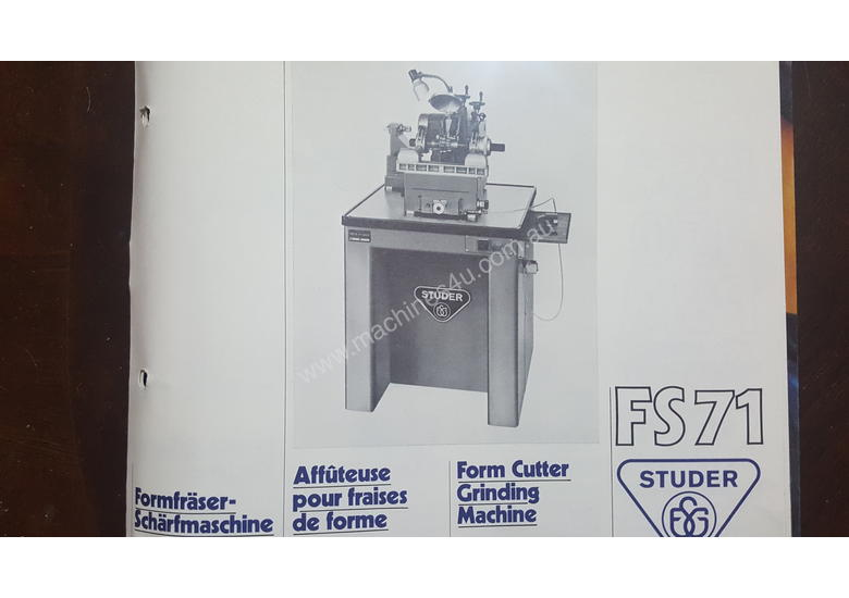 Form Cutter Grinding Machine